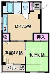 東京都北区豊島1丁目の賃貸マンションの間取り