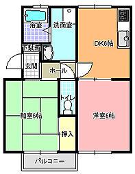 ラ・メゾンド・ユキ[103号室]の間取り