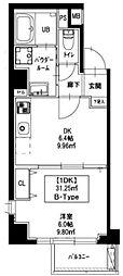 新宿御苑荘 5階1DKの間取り