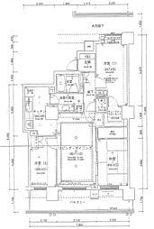 パークハウスさいたま新都心ミッドタワー[1604号室]の間取り
