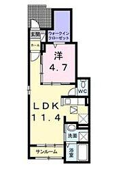 ティンカーベル[1階]の間取り