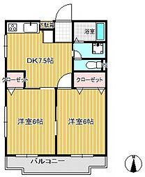 金子マンション[2階]の間取り