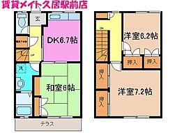 [テラスハウス] 三重県津市雲出長常町 の賃貸【/】の間取り