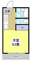 メゾネット・葵[205号室]の間取り