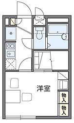東京都府中市日新町5丁目の賃貸アパートの間取り