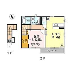 エスパシオ・y B棟[2階]の間取り