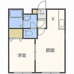 北海道札幌市豊平区豊平四条5丁目の賃貸マンションの間取り