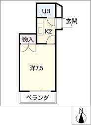 レジデンス万場山[3階]の間取り