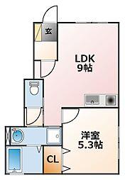 S house[1階]の間取り