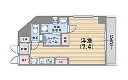 DAIWA RESIDENCE IBARAKI 8階ワンルームの間取り