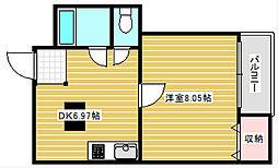 NKハイツ[3階]の間取り