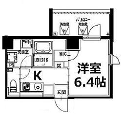 都営新宿線 曙橋駅 徒歩5分の賃貸マンション 4階1Kの間取り