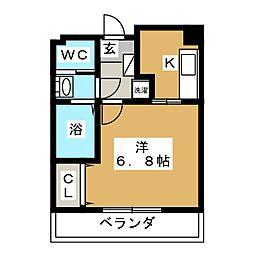 HF仙台レジデンスEAST[8階]の間取り