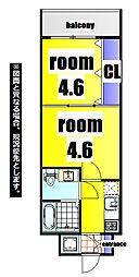No.47 ORIENT PROJECT 2100 9階2Kの間取り