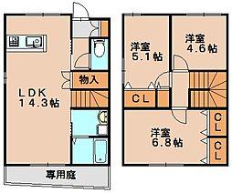 メゾンドグランポン[2階]の間取り