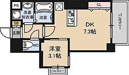 ラグゼ新大阪4[3階]の間取り