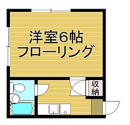 東京都練馬区貫井2丁目の賃貸アパートの間取り