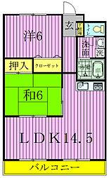 笠井ハイツ[102号室]の間取り