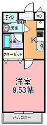 リエス東赤塚[203号室]の間取り