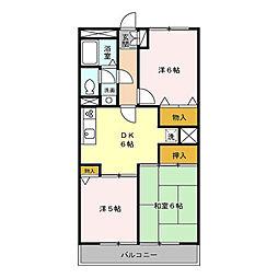 M.Sマンション[306号室]の間取り