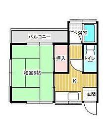 神奈川県秦野市沼代新町の賃貸アパートの間取り