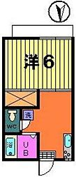 第一オリオンハイツ[2-A号室]の間取り