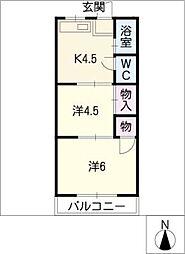 あかお荘[2階]の間取り