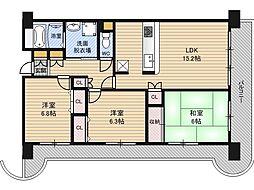 淀川ハイライフマンション[6階]の間取り