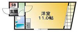 BM北堀江[4階]の間取り