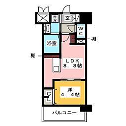 レトワール清水[7階]の間取り