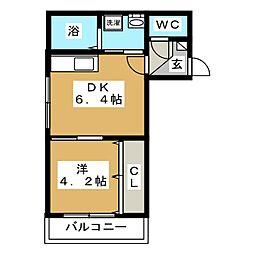 PROSPECT菊水[3階]の間取り