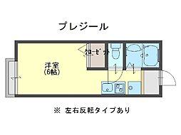 プレジール[1階]の間取り