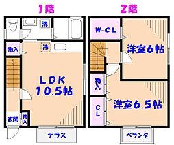 [テラスハウス] 千葉県市川市曽谷8丁目 の賃貸【/】の間取り