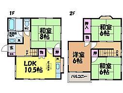 [一戸建] 愛媛県松山市畑寺4丁目 の賃貸【/】の間取り