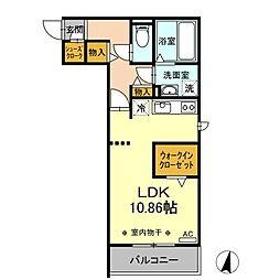 ワイズコート松鴻 3階ワンルームの間取り