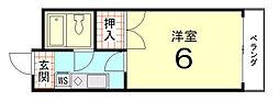 グレース紫竹[309号室]の間取り
