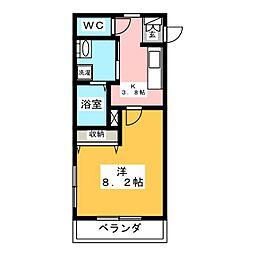 アミティエ草なぎ[2階]の間取り