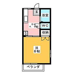 鶴田ローズタウンA棟[2階]の間取り