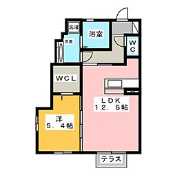 仮)D-room土田 1階1LDKの間取り