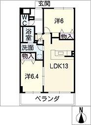 アーバンスクエアIII[3階]の間取り
