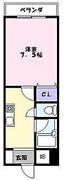 エクセル富士見マンション[407号室]の間取り