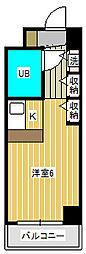 ジュネパレス松戸第94[4階]の間取り