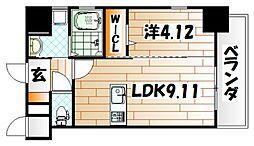 TEH HILLS KOKURA[4階]の間取り