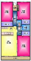 ロイヤルマンション柿田[3階]の間取り