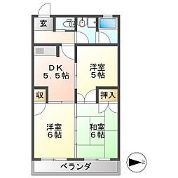 メゾン富塚[2階]の間取り