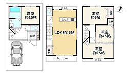 Osaka Metro谷町線 大日駅 徒歩8分 4LDKの間取り