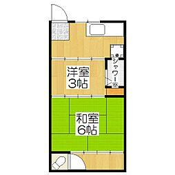泉アパート[1号室]の間取り