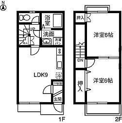 [テラスハウス] 愛知県岡崎市上地六丁目 の賃貸【/】の間取り