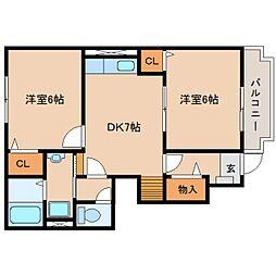 静岡県静岡市清水区興津中町の賃貸アパートの間取り
