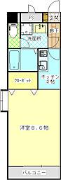 AYマンション[106号室]の間取り